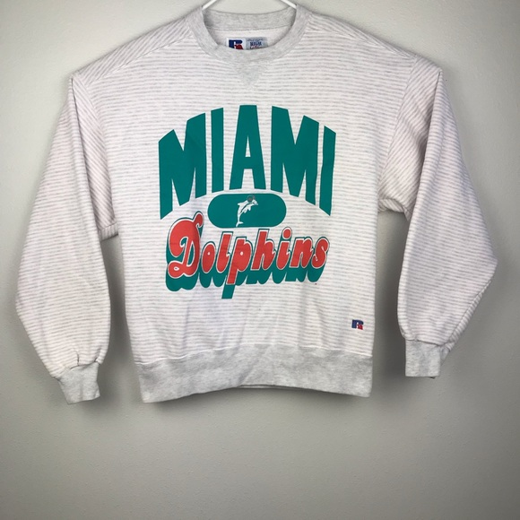Russell Athletic Other - Vintage Miami Dolphins Striped Crewneck Men's